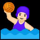 Android Pie; U+1F93D U+1F3FB U+200D U+2640 U+FE0F; Emoji
