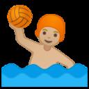 Android Pie; U+1F93D U+1F3FC; Emoji