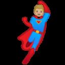 Android Pie; U+1F9B8 U+1F3FC U+200D U+2642 U+FE0F; Emoji