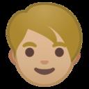 Android Pie; U+1F9D1 U+1F3FC; Erwachsene Person: Hauttyp 3 Emoji