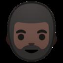 Android Pie; U+1F9D4 U+1F3FF; Person mit Bart: Hauttyp 6 Emoji