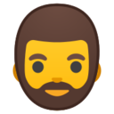 Android Pie; U+1F9D4; Person mit Bart Emoji