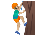 Android Pie; U+1F9D7 U+1F3FC U+200D U+2642 U+FE0F; Homme Qui Fait De L'escalade : Peau 2 Emoji