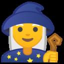 Android Pie; U+1F9D9; Mago (Pessoa) Emoji