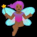 Android Pie; U+1F9DA U+1F3FE U+200D U+2640 U+FE0F; Femme Fée: Peau 4 Emoji
