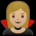 Android Pie; U+1F9DB U+1F3FC; Vampiro (Persona): Colore Pelle 3 Emoji