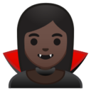 Android Pie; U+1F9DB U+1F3FF; Vampir (Person): Hauttyp 6 Emoji