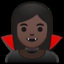 Android Pie; U+1F9DB U+1F3FF; Vampiro (Persona): Colore Pelle 6 Emoji