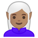 Android Pie; U+1F9DD U+1F3FD U+200D U+2640 U+FE0F; weiblicher Elfe: Hauttyp 4 Emoji