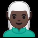 Android Pie; U+1F9DD U+1F3FF U+200D U+2642 U+FE0F; Elfo: Colore Pelle 6 Emoji