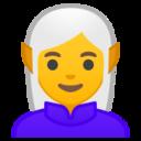 Android Pie; U+1F9DD U+200D U+2640 U+FE0F; Elfo Femmina Emoji