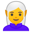 Android Pie; U+1F9DD; Personne Elfe Emoji