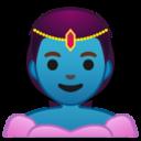 Android Pie; U+1F9DE U+200D U+2640 U+FE0F; Genio Femmina Emoji