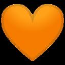 Android Pie; U+1F9E1; Cuore Arancione Emoji