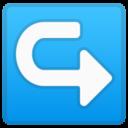 Android Pie; U+21AA U+FE0F; Emoji