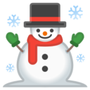Android Pie; U+2603 U+FE0F; Emoji