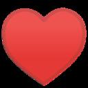 Android Pie; U+2665 U+FE0F; Emoji