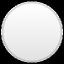 Android Pie; U+26AA; Emoji