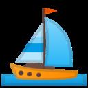 Android Pie; U+26F5; Emoji