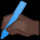 Android Pie; U+270D U+1F3FF; Emoji