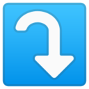Android Pie; U+2935 U+FE0F; Emoji