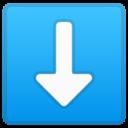 Android Pie; U+2B07 U+FE0F; Emoji