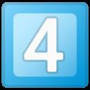 Android Pie; 4 U+FE0F U+20E3; Emoji