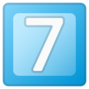 Android Pie; 7 U+FE0F U+20E3; Emoji