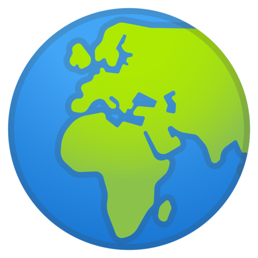 Globe Showing Europe Africa Emoji Terra Emoji