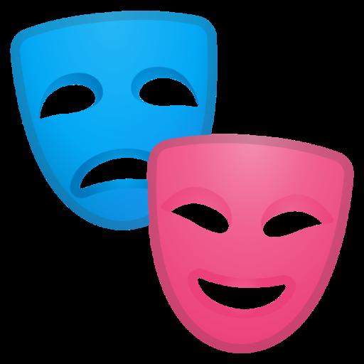 m225scaras de teatro emoji