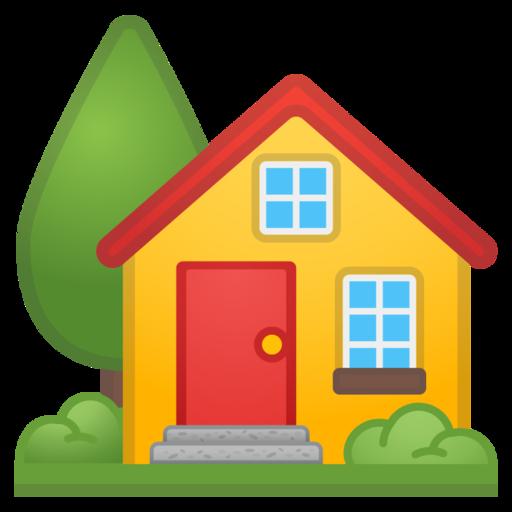 🏡 Maison Avec Jardin Emoji
