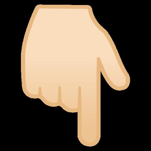 👇🏻 Dorso De Mano Con índice Hacia Abajo: Tono De Piel Claro Emoji