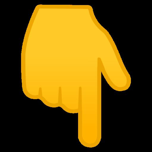 Resultado de imagen para dedo señalando para abajo