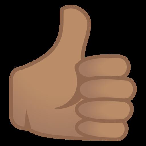 Pouce Vers Le Haut Peau Legerement Mate Emoji