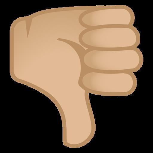 thumbs down medium light skin tone emoji