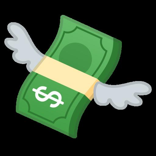 billet avec des ailes emoji