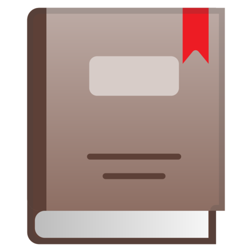 Closed Book Emoji