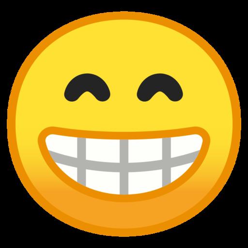 Visage Souriant Aux Yeux Rieurs Emoji
