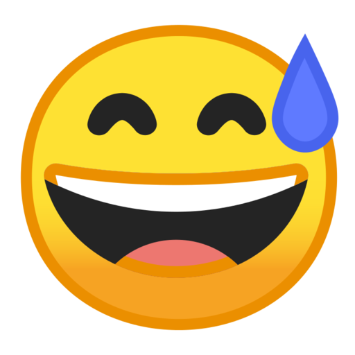Emoji with sweat meaning