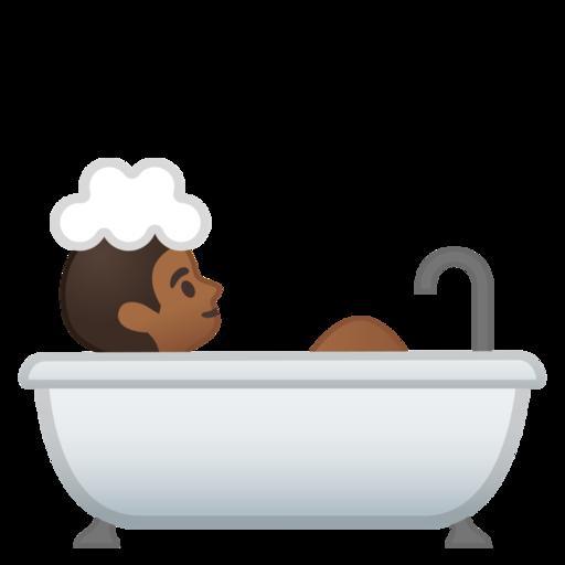 Persona che fa il bagno fototipo 5 emoji - Fare il bagno in inglese ...