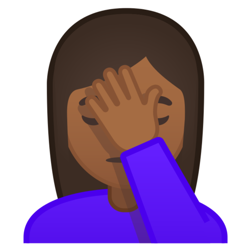 Woman Facepalming Medium Dark Skin Tone Emoji