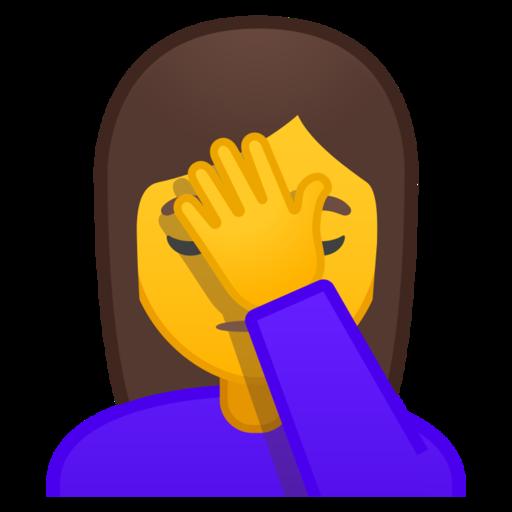 Mujer Con La Mano En La Frente Emoji