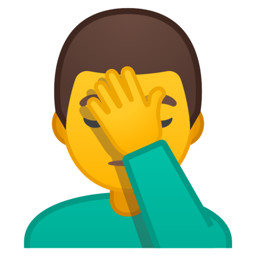Man Facepalming Emoji