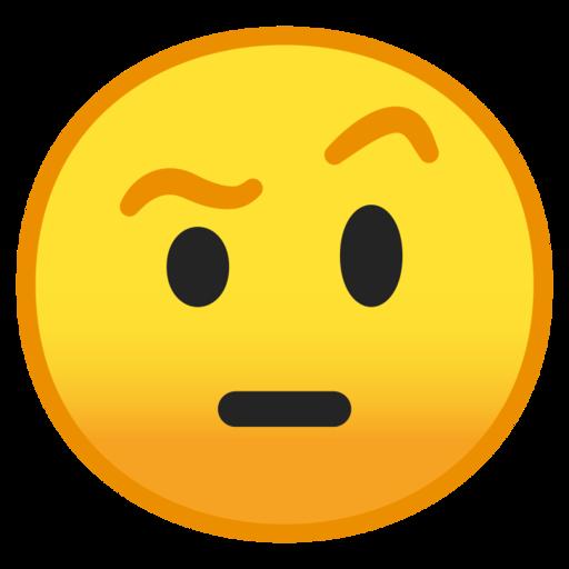 Face With Raised Eyebrow Emoji
