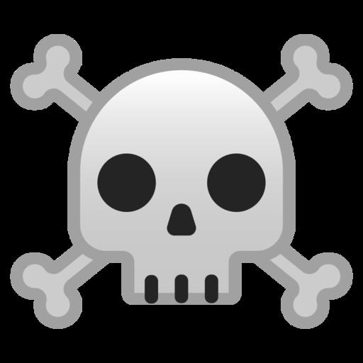 Calavera Y Huesos Cruzados Emoji