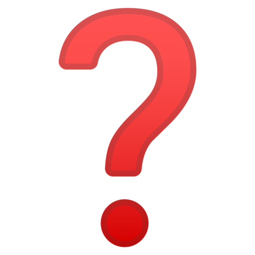 Punto Interrogativo Rosso Emoji