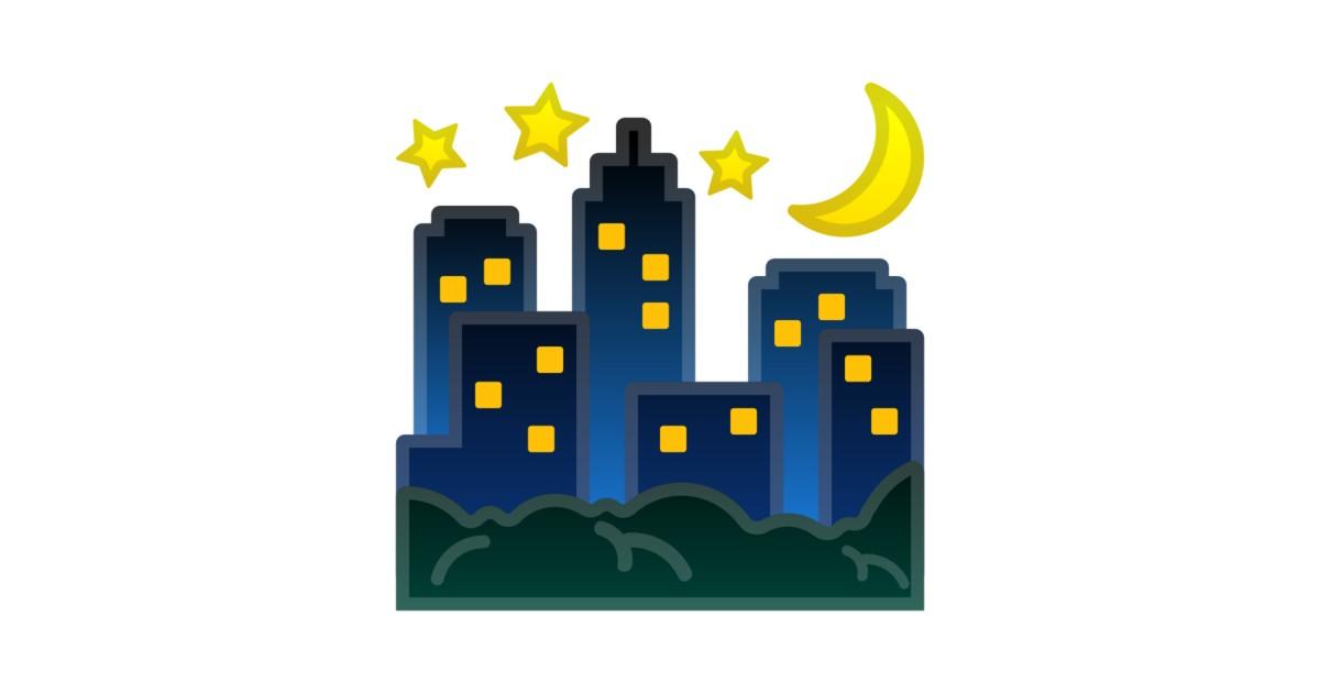 Night With Stars Emoji