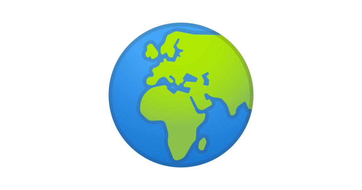 🌍 Globe Showing Europe-Africa Emoji |