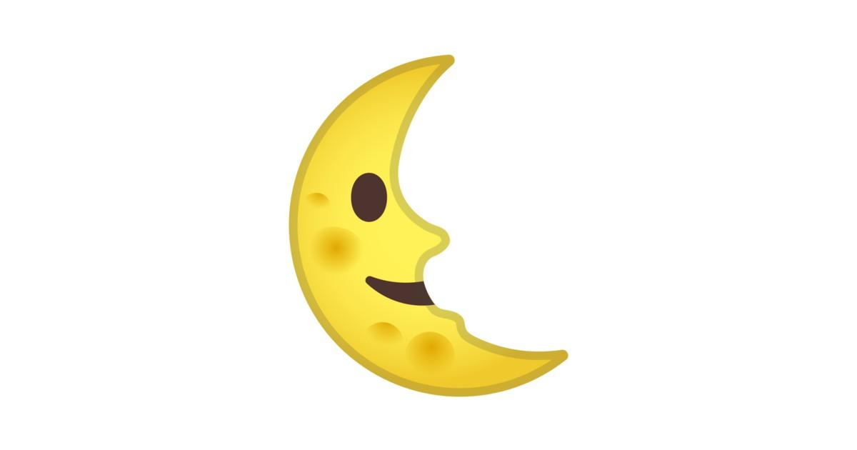 Last Quarter Moon Face Emoji