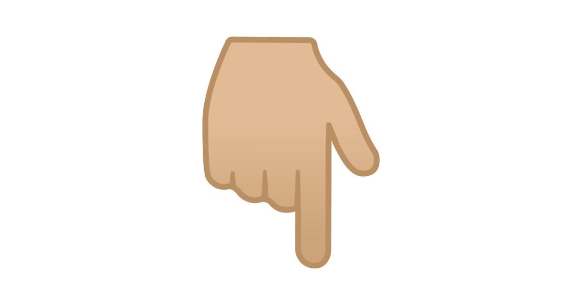 Image result for указательный палец вниз